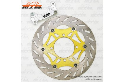 YAMAHA LC135 HAND CLUTCH (55C) APIDO RACING REAR DISC PLATE WITH BRACKET FOR MODIFY TO 260MM