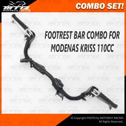 COMBO SET! FOOTREST BAR & ALLOY FOOTREST STEP FOR MODENAS KRISS 110 / 120