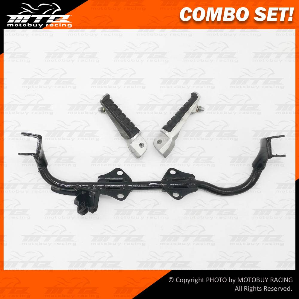 Combo Set  Footrest Bar  U0026 Alloy Footrest Step For Honda Ex5    Ex5 Dream 100    Wave 100