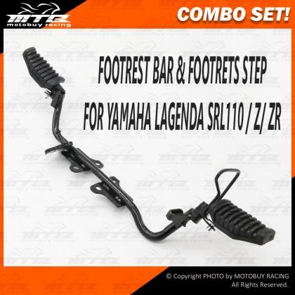 COMBO SET! FOOTREST BAR & STEP FOR YAMAHA LAGENDA SRL110 / Z / ZR