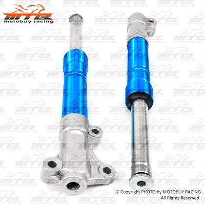 CLEAR STOCK! YAMAHA Y110SS / SS II CNC ALLOY RACING FRONT FORK SET (DISPLAY UNIT)