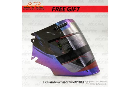 ARAI OPEN FACE HELMET (FREE RAINBOW VISOR + HAND GLOVE)
