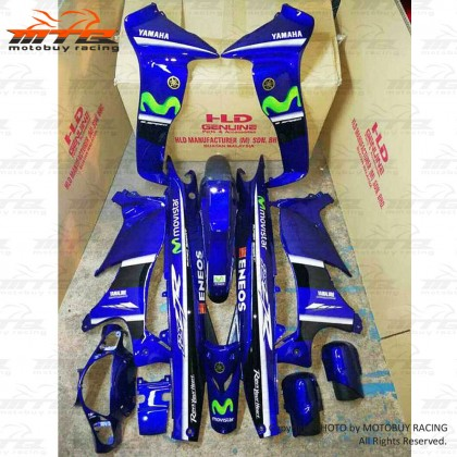 YAMAHA Y125ZR MOVISTAR COVER SET WITH STICKERS (HLD)